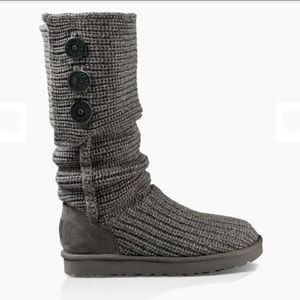 UGG Classic Cardy Gray Knit Boots